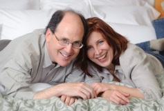 Ross and Helen with pillows