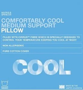 M&S comfortably cool pillow
