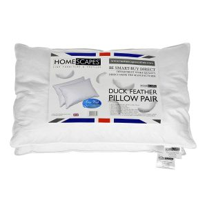 homescapes duck feather pillow pair review