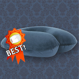 Soak & Sleep Memory Foam Travel Pillow