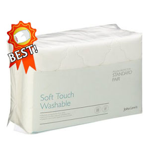 ohn Lewis Soft Touch Washable Pillow Protector review - best pillow protectors