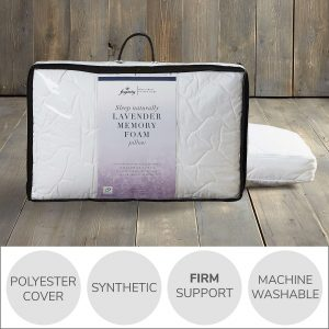Fogarty lavender scented memory foam pillow